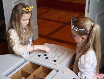Kinder beim Spielen in Residenzschloss Ludwigsburg