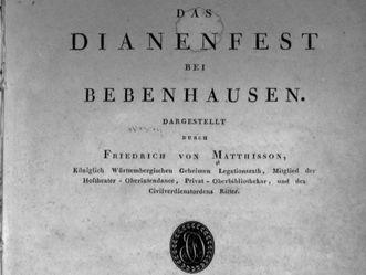Friedrich von Matthission: Das Dianenfest bei Bebenhausen