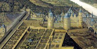 Gemälde des Hortus Palatinus von Schloss Heidelberg, unbekannter Meister um 1600