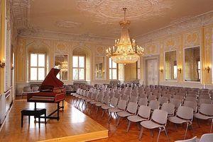 Schloss Bruchsal, Kammermusiksaal; Foto: Staatliche Schlösser und Gärten Baden-Württemberg, Arnim Weischer