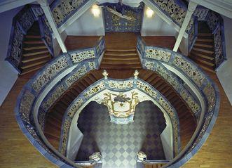 Staircase, Schöntal Monastery. Image: Staatliche Schlösser und Gärten Baden-Württemberg, Jürgen Besserer