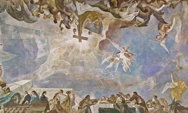 Deckengemälde in der Schlosskapelle Mannheim; Foto: Staatliche Schlösser und Gärten Baden-Württemberg, Arnim Weischer
