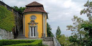 Das mit Lotto-Mitteln sanierte Teehäuschen des Neuen Schloss Meersburg
