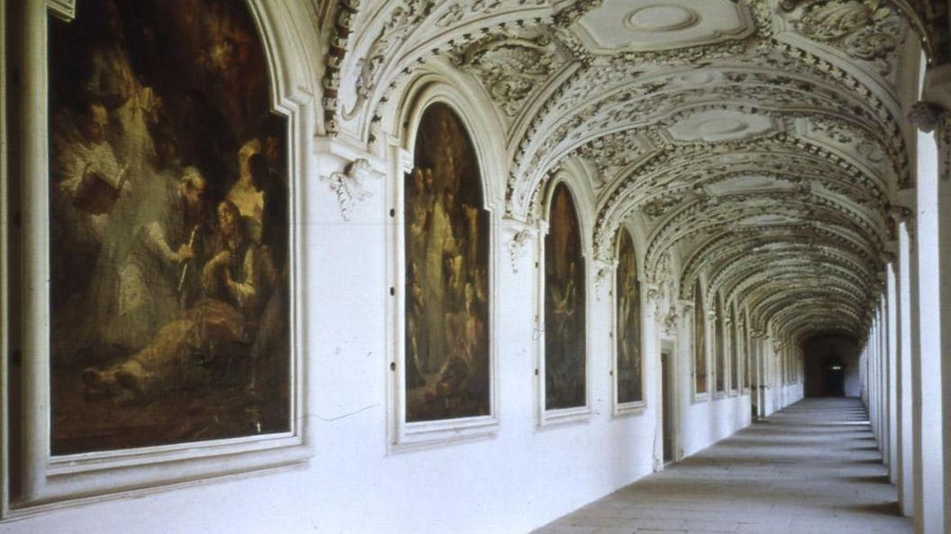 Kloster und Schloss Salem, Innenansicht, Bernhardusgang