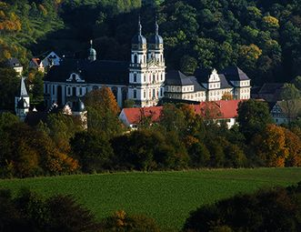 Kloster Schöntal aus der Luft; Foto: Staatliche Schlösser und Gärten Baden-Württember, Jürgen Besserer