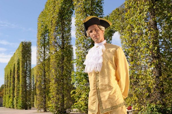 Schwetzingen Palace and Gardens, man in costume
