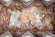 Rastatt Residential Palace, Painted ceiling in the palace church; photo: Staatliche Schlösser und Gärten Baden-Württemberg, Dirk Altenkirch