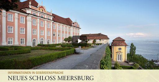 """Startbildschirm des Filmes """"Neues Schloss Meersburg: Informationen in Gebärdensprache"""""""