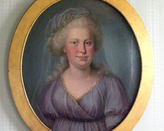 Porträt der Herzogin Franziska von Hohenheim, heute in Schloss Kirchenheim