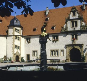 Courtyard view of Schöntal Monastery. Image: Foto Besserer