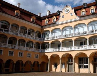 Innenhof von Schloss ob Ellwangen; Foto: Schlossmuseum Ellwangen