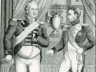 Kaiser Napoleon Bonaparte und Herzog Friedrich II. von Württemberg