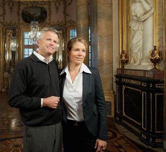 Besucher in Schloss Solitude Stuttgart; Foto: Staatliche Schlösser und Gärten Baden-Württemberg, Niels Schubert