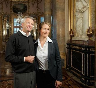 Besucher in Schloss Solitude Stuttgart