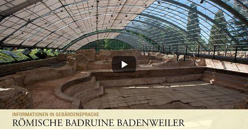 """Startbildschirm des Filmes """"Römische Badruine Badenweiler: Informationen in Gebärdensprache"""""""