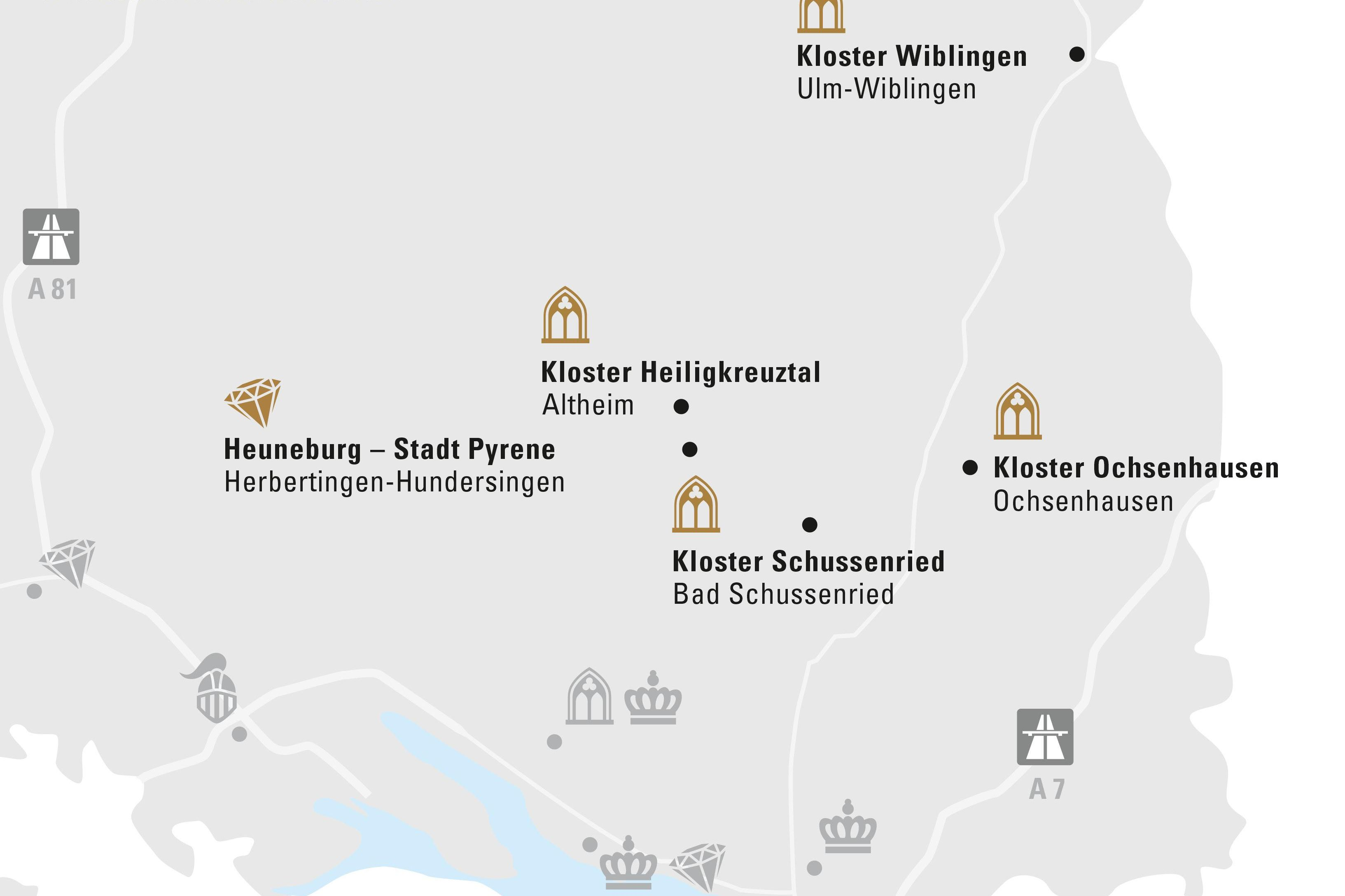 Region Oberschwaben & Ulm; Entwurf: Staatliche Schlösser und Gärten Baden-Württemberg, JUNG:Kommunikation