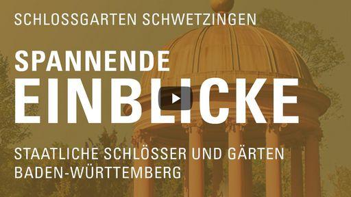 """Startbildschirm des Films """"Spannende Einblicke mit Michael Hörrmann: Schlossgarten Schwetzingen"""""""