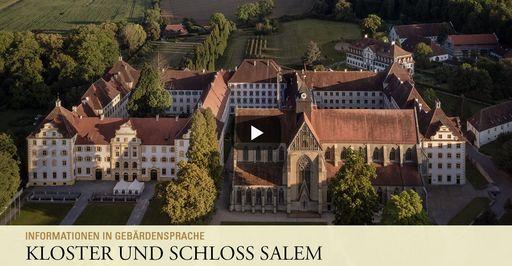 """Startbildschirm des Filmes """"Kloster und Schloss Salem: Informationen in Gebärdensprache"""""""