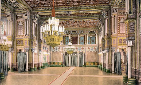 Wilhelma Stuttgart, Festsaal um 1900