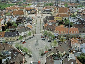 Holzmarkt und Marktplatz in Ludwigsburg