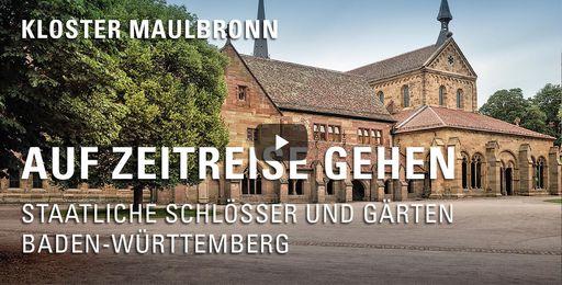 """Startbildschirm des Films """"Auf Zeitreise gehen: Kloster Maulbonn"""""""