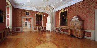 Neues Schloss Tettnang, Innenansicht, Erstes Rotes Zimmer oder auch Audienzzimmer