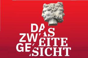 """Neues Schloss Meersburg, Werbemotiv der Ausstellung """"Das zweite Gesicht"""""""