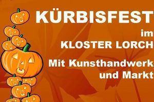 Plakat zum Kürbisfest 2018 in Kloster Lorch; Gestaltung: Touristikbüro Kloster Lorch