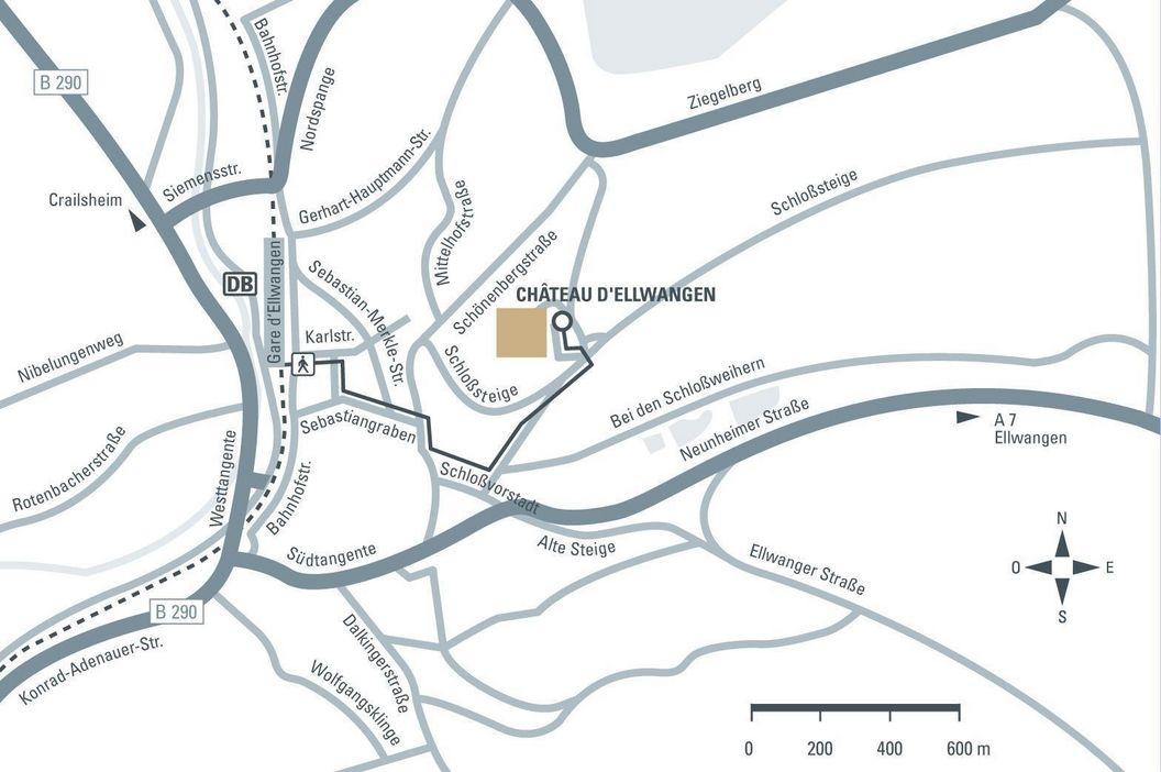 Château d' Ellwangen; Visuel des Staatliche Schlösser und Gärten Baden-Württemberg, Illustration JUNG:Kommunikation