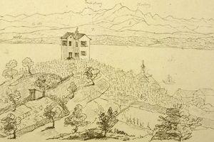 Fürstenhäusle Meersburg, Zeichnung des Fürstenhäusles