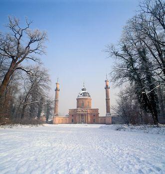 Die Moschee im Winter, Schlossgarten Schwetzingen