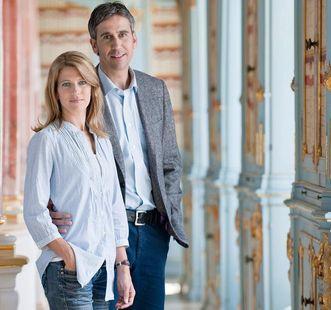 Besucherpaar in Kloster Schussenried