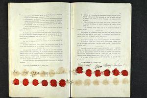 Die Rheinakte im Original; Foto: Archives départementales du Bas-Rhin