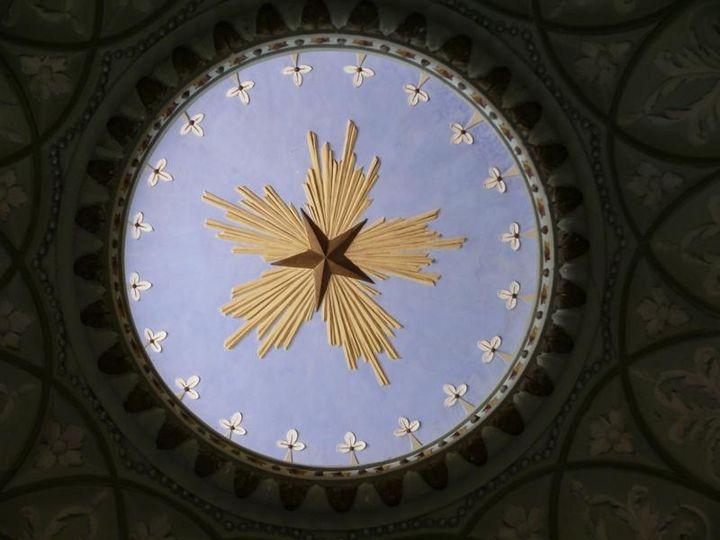 Schloss und Schlossgarten Schwetzingen, Moschee, Flammender Stern
