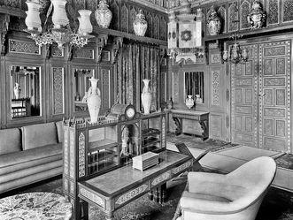 Wilhelma Stuttgart, Zimmer im Schloss 1932