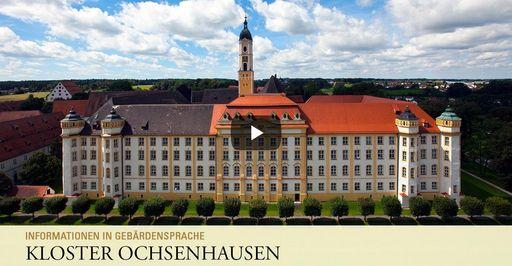 """Startbildschirm des Filmes """"Kloster Ochsenhausen: Informationen in Gebärdensprache"""""""