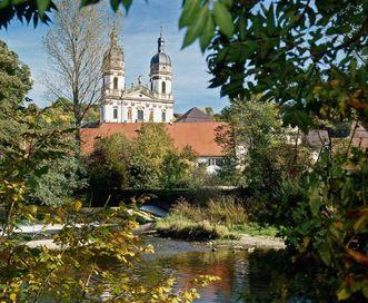 Außenansicht von Kloster Schöntal; Foto: Staatliche Schlösser und Gärten Baden-Württemberg, Jürgen Besserer