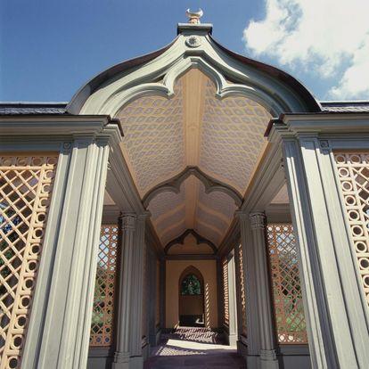Dach des Wandelgangs der Moschee im Schlossgarten von Schloss Schwetzingen