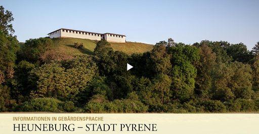 """Startbildschirm des Filmes """"Heuneburg - Stadt Pyrene: Informationen in Gebärdensprache"""""""