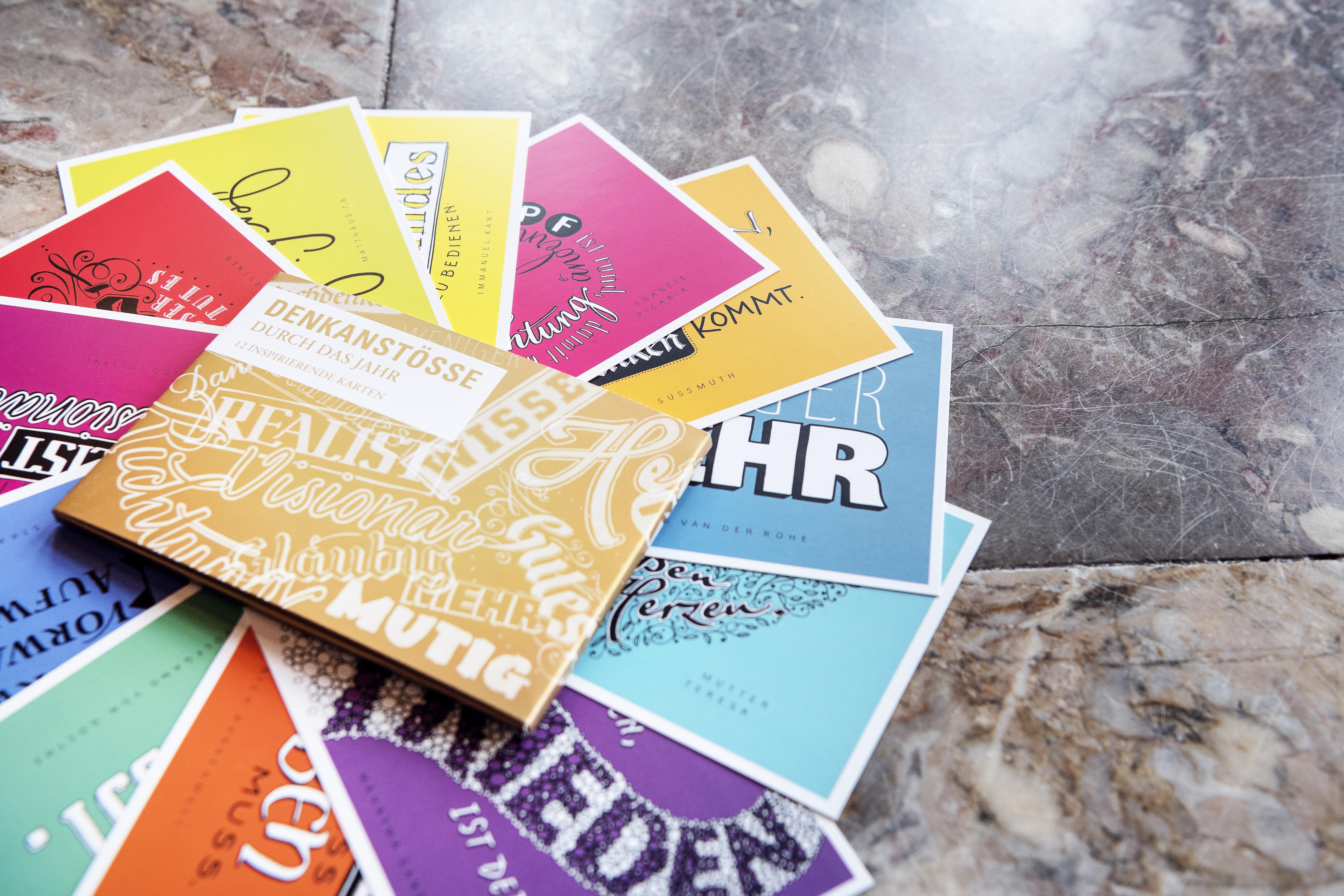 Denkanstöße, Postkarten